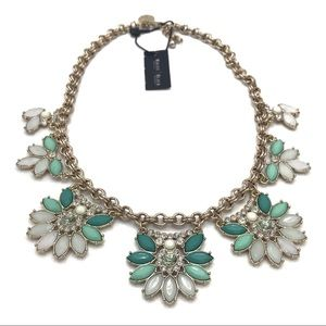 White House Black Market Green Floral Necklace NWT